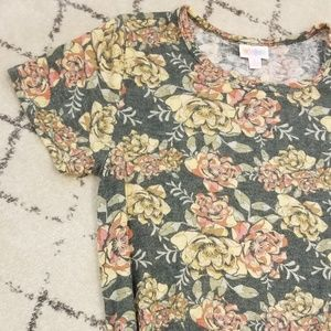NWT Sweater Material Floral Lularoe Carly Dress